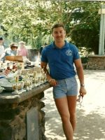 1988-06-Michael at company picnic now working for Cal Land Title in Mnt View, Calif