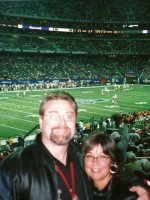2004-12c-Michael & Mary at the College Peach Bowl in Atlanta, Georgia