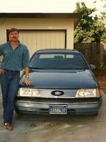1988-10-Michael and his 3rd car a 1986 Ford, Taurus
