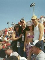 2005-02-Michael & Mary with Friends Sarah & Nick at the Daytona 500 in Daytona, Florida