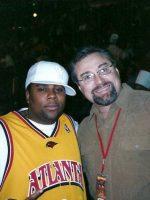 2005-01-Michael & Kenan Thompson (Actor) at Atlanta Hawks game in Atlanta, Georgia