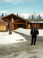 2005-03a-Michael at Iditarod Trail Race Headquarters in Anchorage, Alaska