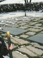 2005-12a-Michael at JFKennedy's gravesite-Arlington National Cemetery, Washington, DC
