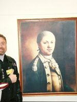 2005-12b-Michael in the Pentagon-Painting of 1ST Commandant of USMC Samuel Nicholas, Washington, DC