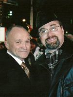 2005-12c-Michael & NYC Police Commissioner Raymond Kelly, Times Square New Years Eve, NYC