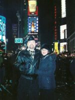 2005-12d-Michael with Mary for New Years Eve in Times Square, NYC from 2005 to 2006