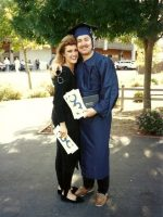 1993-06-Business Degree Graduation with Ex-wife Tracy