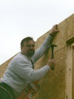 2006-11-Michael helping build Katrina Houses with Habitat for Humanity in New Orleans, LA