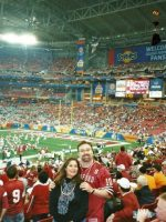 2007-01-Michael & Mary at the College Fiesta Bowl in Phoenix, Arizona
