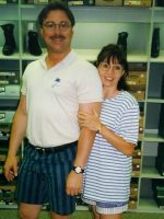 1996-08-Michael & Mom shoe shopping