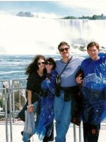 1997-08-Michael with Sister Gigi, Mother Anne & Step Father Lewis at Niagra Falls