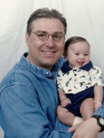1999-07-Michael with his son Nickolas (Age 3 months)