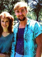 1986-06d-Michael with Actress in Hollywood, CA
