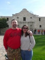 2008-12-Michael & Mary at The Alamo in San Antonio, Texas