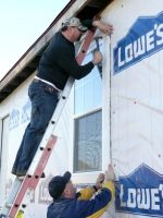 2010-01-Michael helping build Katrina homes with Habitat for Humanity in New Orleans