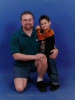 2004-03-Michael with his son Nickolas