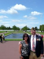 2010-06a-Mary & Michael at D-Day Omaha Beach Cemetery in Normandy, France
