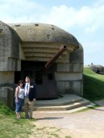 2010-06e-Michael at Longues-Sur-Mer in Normandy, France