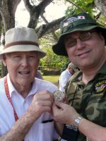 2011-03a-Michael with Billy Griggs - Marine Corps Iwo Jima Veteran