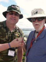 2011-03b-Michael with Wilbur McGlynn-USMC Iwo Jima Veteran