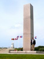 2010-06h-Michael at the D-Day Utah Beach Monument in Normandy, France