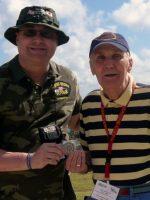 2011-03c-Michael with Robert Warner-USMC Iwo Jima Veteran