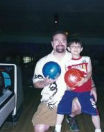 2006-07-Michael with Nickolas who is bowling his first game