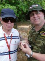 2011-03e-Michael with Gordon Mommsen- USMC Iwo Jima Veteran