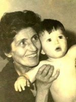 1963-10b-Baby Michael with his paternal Grandmother