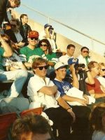 1988-09-Michael & Darlene at the Baseball World Series-As vs Dodgers in Oakland, CA