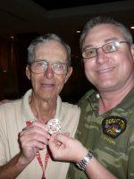 2011-03g-Michael with Oliver Cromwell-USMC Iwo Jima Veteran