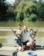 2006-08-Michael with sons Nickolas and Tyler-This was their 1st time fishing