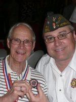 2011-03h-Michael with Wayne DeVries-USMC Iwo Jima Veteran