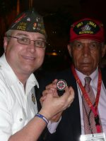 2011-03i-Michael with Joe Lanier-USN Iwo Jima Seabee Veteran