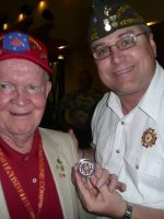 2011-03j-Michael with Jack Thurman-USMC Iwo Jima Veteran