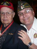2011-03L-Michael with W.B. Schott-USMC Iwo Jima Veteran