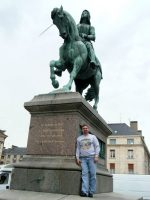 2010-06r-Michael at the Joan of Arc Statue in Orleans, France