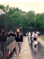 1991-05-Michael at Vietnam Veteran Memorial