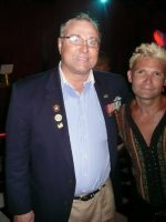 2011-08-Michael & Corey Feldman (Actor) at Playboy Mansion