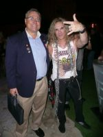 2011-08-Michael & Michael Starr Rock group Steel Panther Singer at the Playboy Mansion