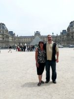 2010-06zb-Mary & Michael at the Louvres Museum in Paris, France