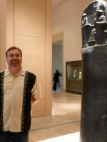 2010-06zd-Michael and the Code of Hammurabi at the Louvre Museum in Paris, France