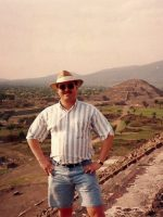 1994-04a-Michael at the Sun Moon Pyramids in Mexico