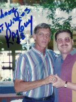 1994-07-Michael & Ray Guy (Showing his SuperBowl Ring)-Oakland Raiders