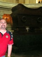 2010-06zf-Michael at Napoleon I Tomb at the Invalides Museum in Paris, France