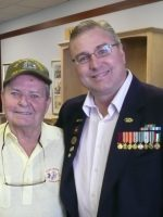 2011-10a-Michael & Ed Fulwider-Iwo Jima Merchant Marine Veteran & Marine Corps China Marine