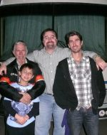 2010-02-Michael with his father Jacques & Michael's son Nickolas & Michael's brother Joktan
