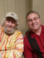 2011-11b-Michael & Wavy Gravy (Woodstock Celebrity)-Flint Center, Cupertino, CA