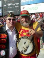 2011-11d-Michael & Banjo Man at 49ers vs Giants Game