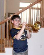 2010-03-Nickolas on Trumpet